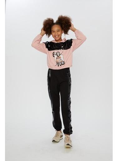 Little Star Little Star Kız Çocuk Kapşonlu Sweatshirt Pudra